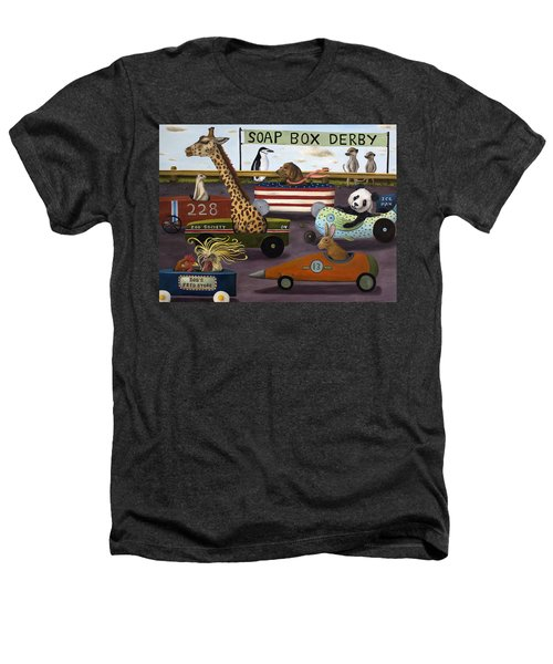 Soap Box Derby Heathers T-Shirt by Leah Saulnier The Painting Maniac