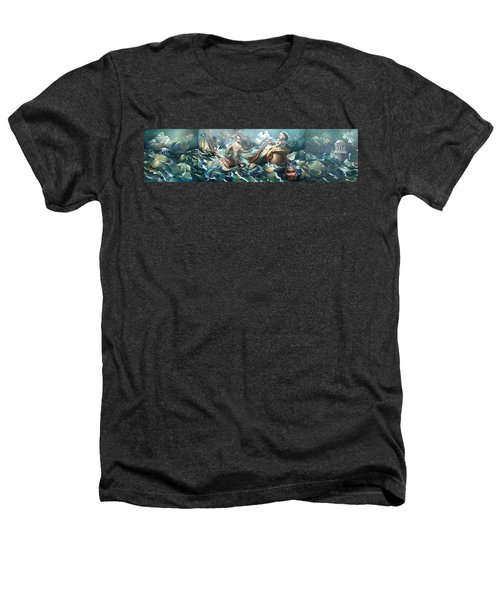 Something Fowl Afloat 2b Heathers T-Shirt by Patrick Anthony Pierson