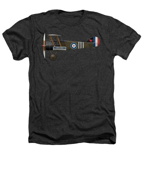 Sopwith Camel - B6313 June 1918 - Side Profile View Heathers T-Shirt by Ed Jackson