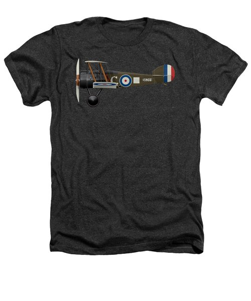 Sopwith Camel - B6344 - Side Profile View Heathers T-Shirt by Ed Jackson