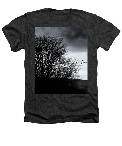 Starlings Roost Heathers T-Shirt by Philip Openshaw
