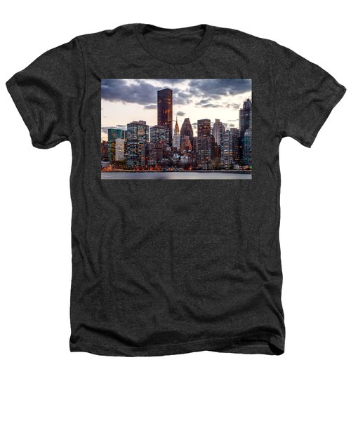 Surrounded By The City Heathers T-Shirt by Az Jackson