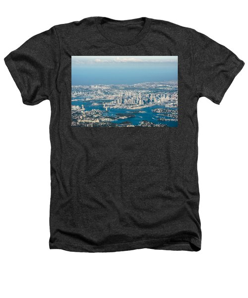 Sydney From The Air Heathers T-Shirt by Parker Cunningham