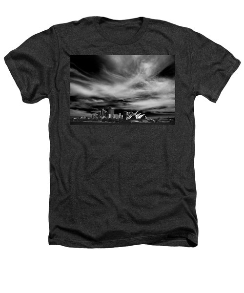 Sydney Skyline With Dramatic Sky Heathers T-Shirt by Avalon Fine Art Photography