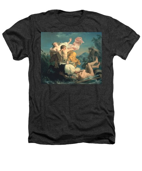The Abduction Of Deianeira By The Centaur Nessus Heathers T-Shirt by Louis Jean Francois Lagrenee