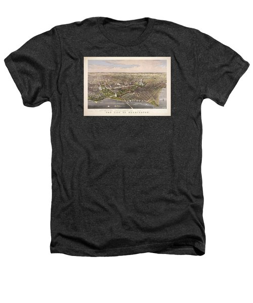 The City Of Washington Heathers T-Shirt by Charles Richard Parsons