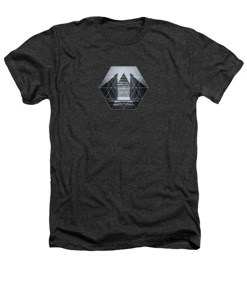 The Hotel Experimental Futuristic Architecture Photo Art In Modern Black And White Heathers T-Shirt by Philipp Rietz