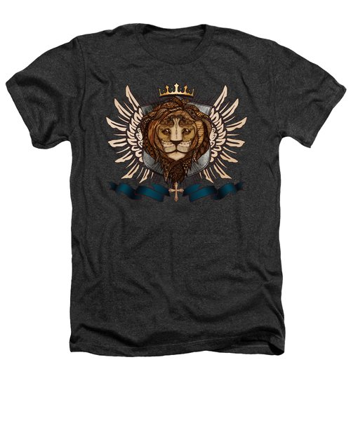 The King's Heraldry II Heathers T-Shirt by April Moen