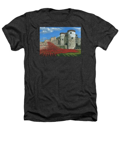 Tower Of London Poppies - Blood Swept Lands And Seas Of Red  Heathers T-Shirt by Richard Harpum