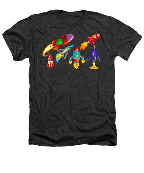 Toy Rockets Heathers T-Shirt by Brian Kemper