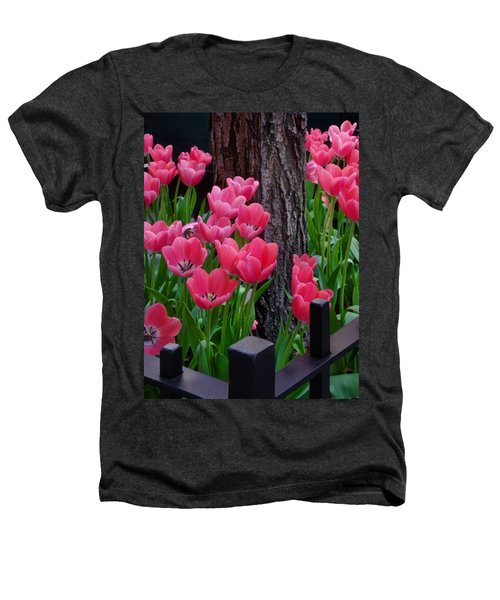 Tulips And Tree Heathers T-Shirt by Mike Nellums