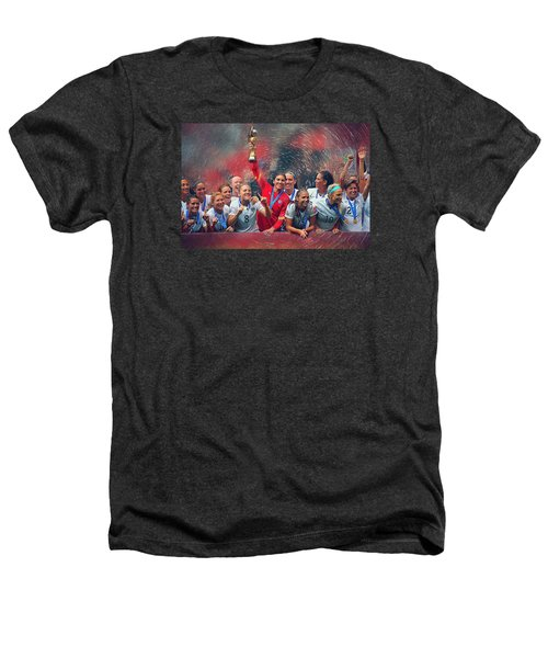 Us Women's Soccer Heathers T-Shirt by Semih Yurdabak