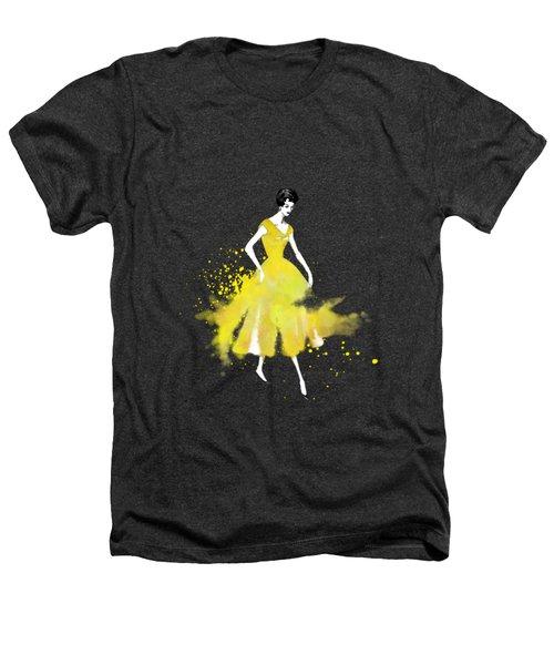Vintage Yellow Dress Heathers T-Shirt by Diana Van
