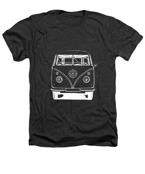 Vw Van Graphic Artwork Tee White Heathers T-Shirt by Edward Fielding