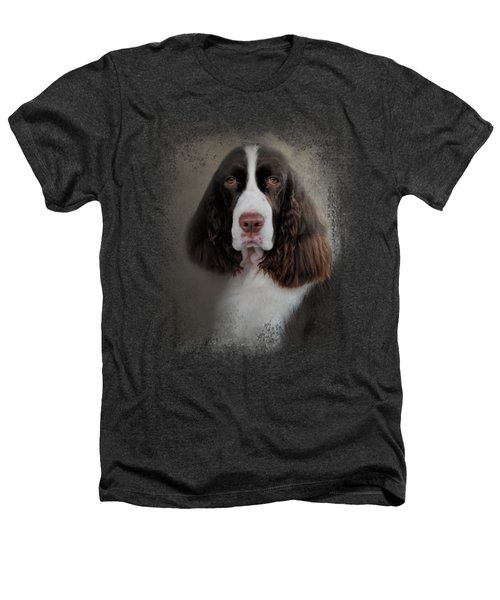 Waiting Patiently - English Springer Spaniel Heathers T-Shirt by Jai Johnson
