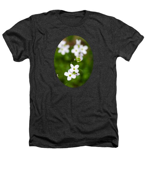 White Cuckoo Flowers Heathers T-Shirt by Christina Rollo