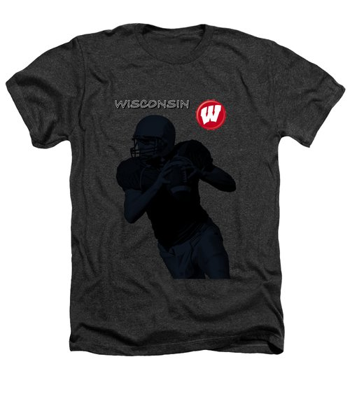 Wisconsin Football Heathers T-Shirt by David Dehner