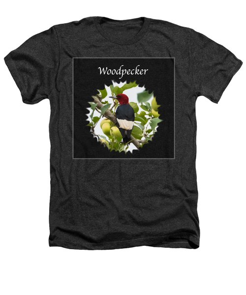 Woodpecker Heathers T-Shirt by Jan M Holden