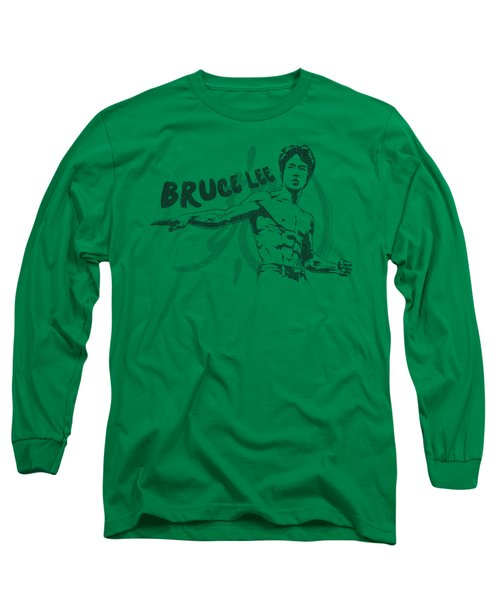 Bruce Lee - Brush Lee Long Sleeve T-Shirt by Brand A
