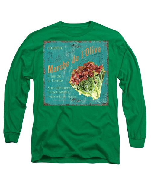 French Market Sign 3 Long Sleeve T-Shirt by Debbie DeWitt