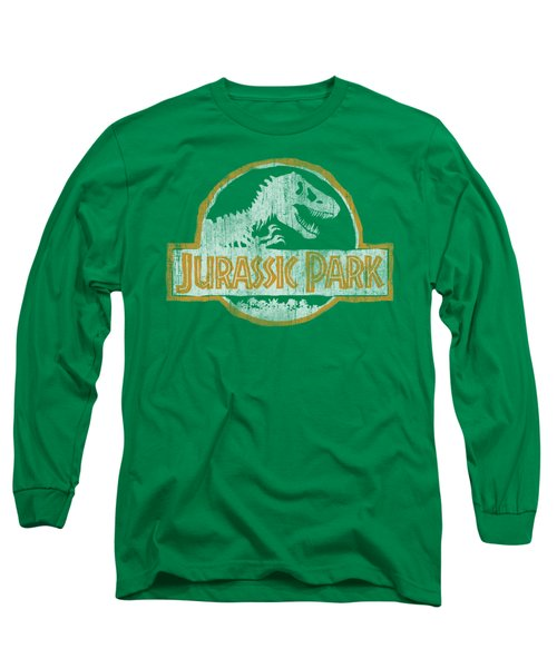 Jurassic Park - Jp Orange Long Sleeve T-Shirt by Brand A
