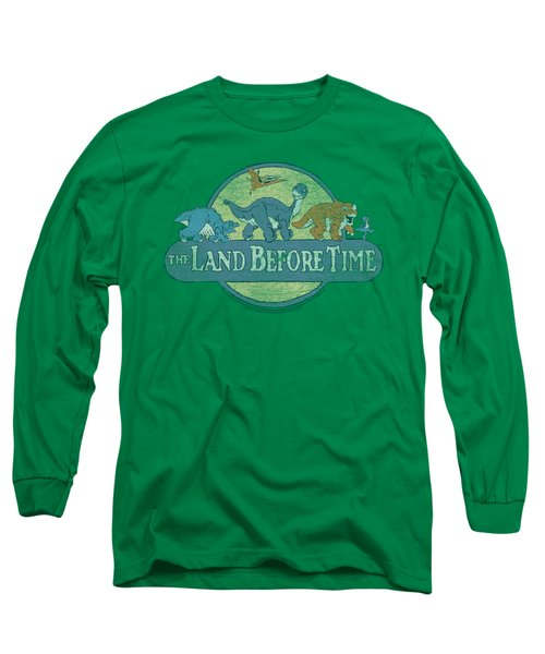 Land Before Time - Retro Logo Long Sleeve T-Shirt by Brand A