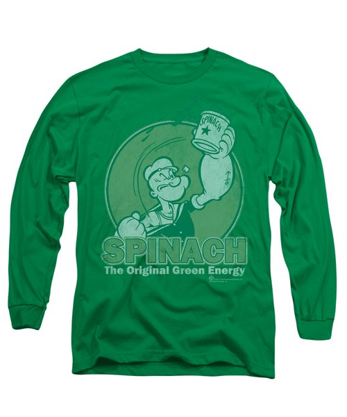 Popeye - Green Energy Long Sleeve T-Shirt by Brand A
