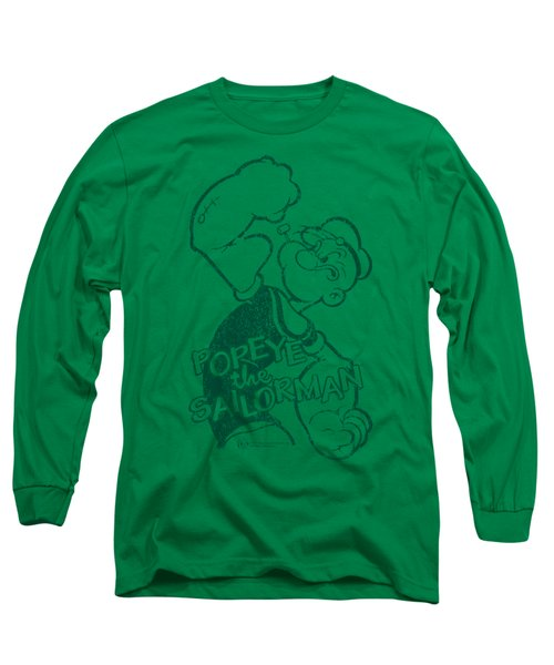 Popeye - Spinach Strong Long Sleeve T-Shirt by Brand A