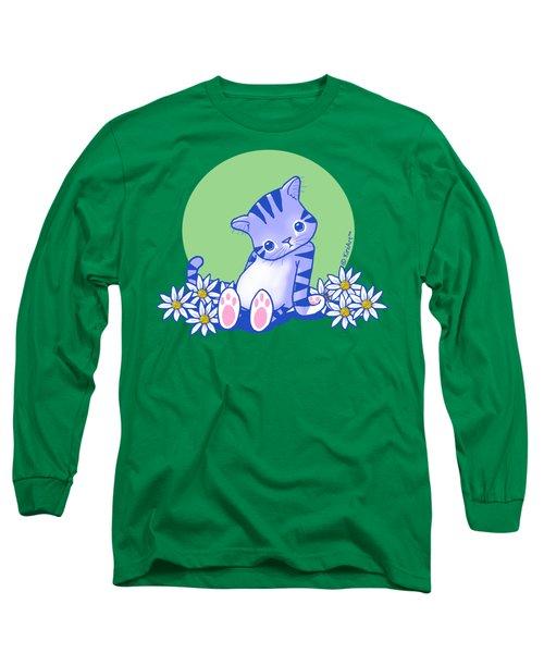 Yittle Kitty Long Sleeve T-Shirt by Kim Niles