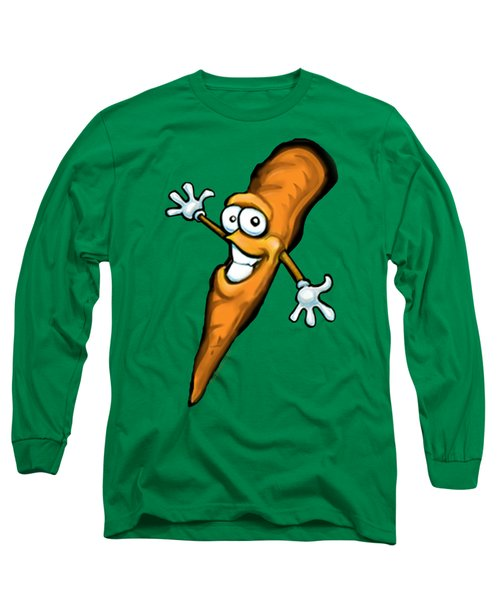 Carrot Long Sleeve T-Shirt by Kevin Middleton