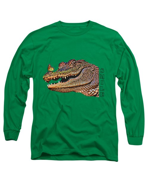 Gator Smile Long Sleeve T-Shirt by Mitch Spence