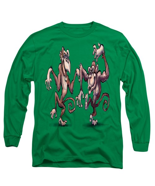 Monkey Dance Long Sleeve T-Shirt by Kevin Middleton
