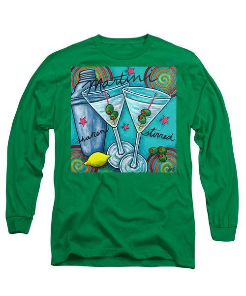 Retro Martini Long Sleeve T-Shirt by Lisa  Lorenz