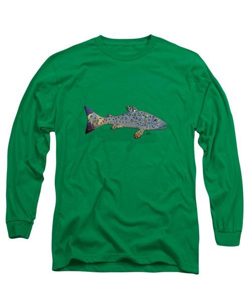 Sea Trout Long Sleeve T-Shirt by Mikael Jenei