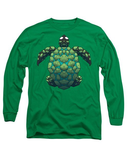 Sea Turtle Long Sleeve T-Shirt by Dusty Conley