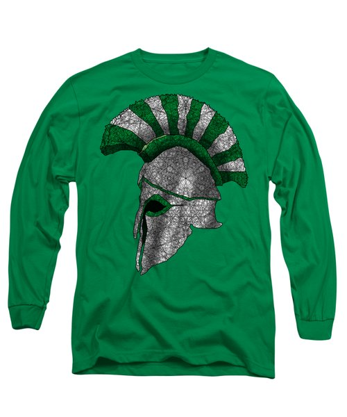 Spartan Helmet Long Sleeve T-Shirt by Dusty Conley