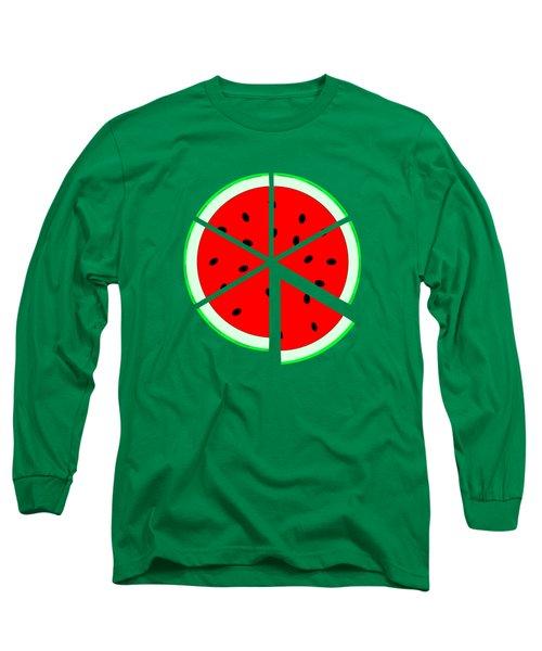 Watermelon Wedge Long Sleeve T-Shirt by Susan Eileen Evans