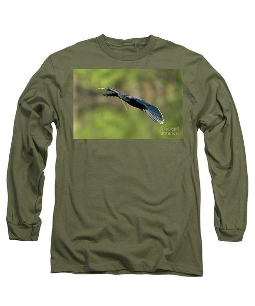Anhinga Long Sleeve T-Shirt by Anthony Mercieca