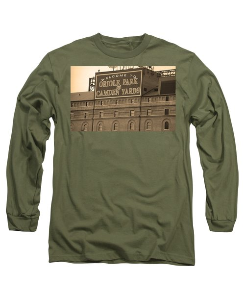 Baltimore Orioles Park At Camden Yards Long Sleeve T-Shirt by Frank Romeo