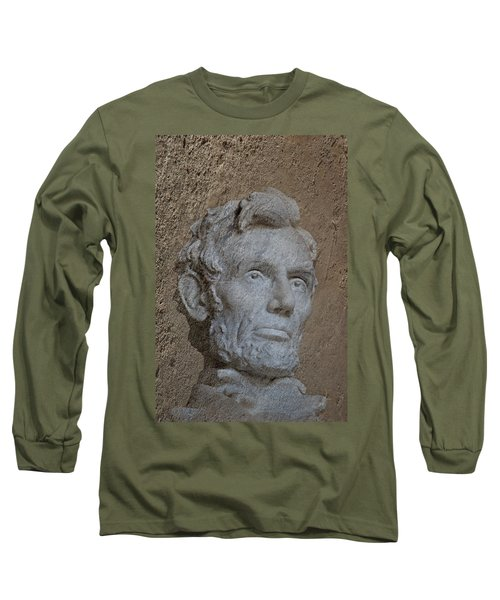 President Lincoln Long Sleeve T-Shirt by Skip Willits