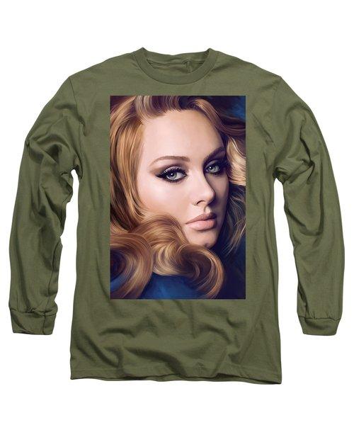 Adele Artwork  Long Sleeve T-Shirt by Sheraz A