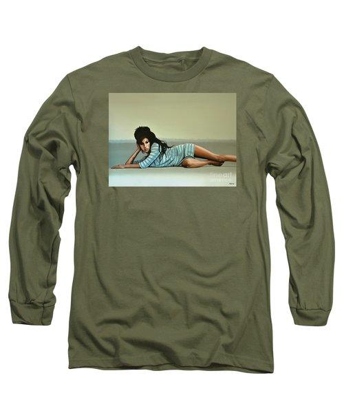 Amy Winehouse 2 Long Sleeve T-Shirt by Paul Meijering