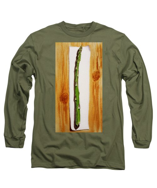 Asparagus Tasty Botanical Study Long Sleeve T-Shirt by Irina Sztukowski