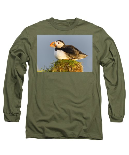 Atlantic Puffin Iceland Long Sleeve T-Shirt by Peer von Wahl