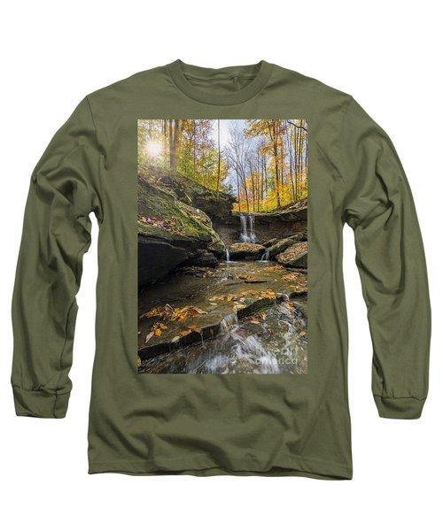 Autumn Flows Long Sleeve T-Shirt by James Dean