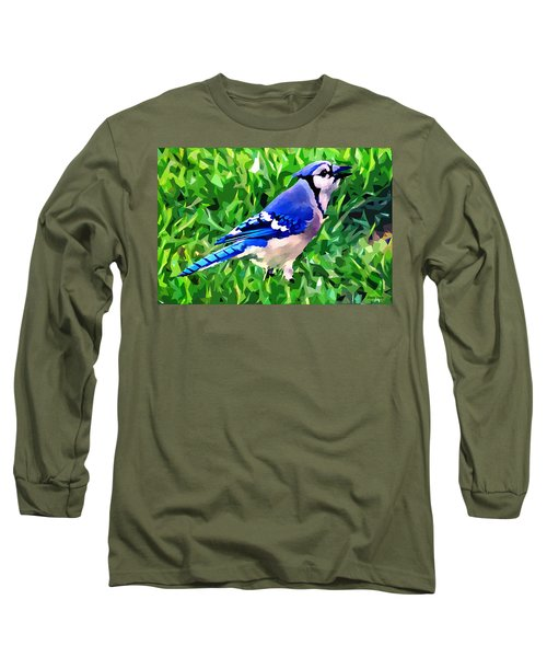 Blue Jay Long Sleeve T-Shirt by Stephen Younts