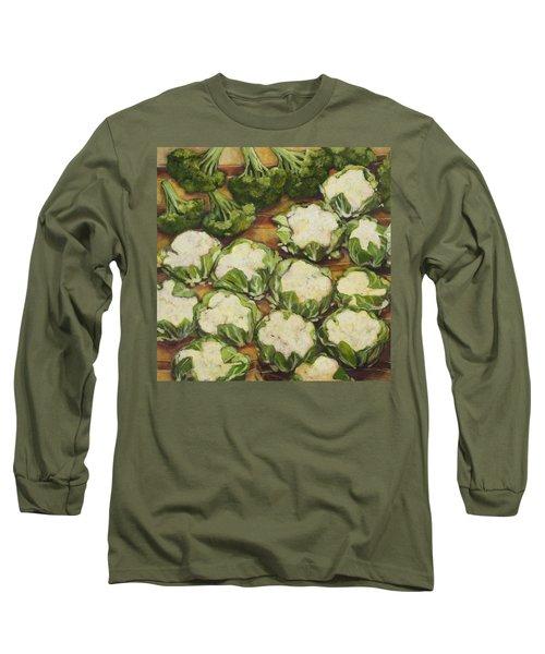 Cauliflower March Long Sleeve T-Shirt by Jen Norton