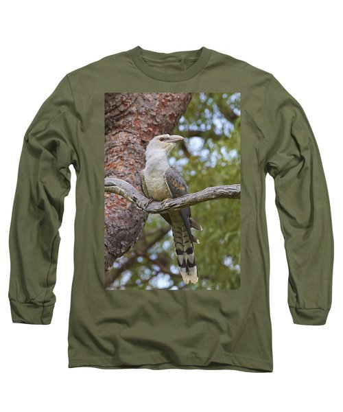 Channel-billed Cuckoo Fledgling Long Sleeve T-Shirt by Martin Willis