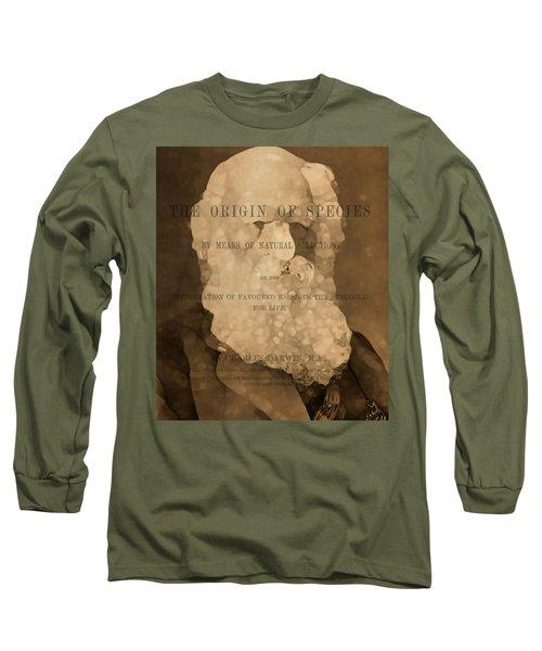 Charles Darwin The Origin Of Species Long Sleeve T-Shirt by Dan Sproul