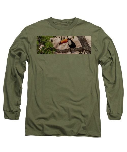 Close-up Of Tocu Toucan Ramphastos Toco Long Sleeve T-Shirt by Panoramic Images
